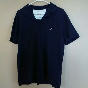 Nautica Men's Large Dark Blue Polo